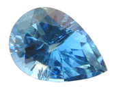 Finest Deep Blue Color Loose Aquamarine Gemstone, Pear Cut 1.01 carats