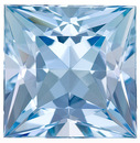 Glorious Dark Aquamarine Natural Gem- Great Cut! Princess  Cut, 3.18 Carats