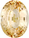 Gorgeous Color in No Heat Sapphire Loose Gem in Oval Cut, Yellowish Orange, 9.27 x 7.07 mm, 2.84 carats - With GIA Certificate