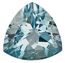 Gorgeous Pure Blue Aquamarine Genuine Gem, Trillion Cut, 4.53 carats,