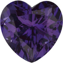 Grade GEM CHATHAM CREATED ALEXANDRITE Heart Cut Gems  - Calibrated