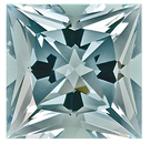 Great Buy on This Brilliant Blue Aquamarine Natural Gemstone, Princess Cut,  7.78 carats,