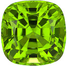 Great Color, Life and Clarity on this Stunning Unheated Peridot Gemstone from Pakistan, Antique square Cut, 5.83 carats