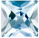 Hard to Find Shape! Very Clean and Bright Pretty Aquamarine Genuine Gem Princess  Cut, 3.79 Carats