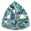 Huge 12mm Brilliant Color Blue Aquamarine Natural Gemstone, Trillion Cut, 4.11 carats,