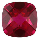Imitation Ruby Antique Square Cut Checkerboard Gems