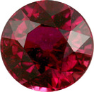 Impressive Unheated Madagascar Ruby Gemstone - Bright & Lively and Red! in 8.2 mm, 3.44 carats - With GRS Certificate