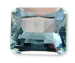 Loose Radiant USA Cutting Medium Deep Blue Aquamarine Gemstone 11.22 carats at AfricaGems