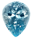 Striking Fine Blue Aquamarine Genuine Gemstone, Pear Shape, 3.88 carats,