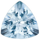 Stunning Brazilian Aquamarine Gem for SALE, Trillion Cut, 2.28 Carats