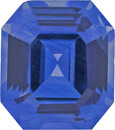 Stunning Bright Blue AGL Sapphire Certified Octagon Cut Gem,  8.8 x 7.7 mm, 3.01 carats