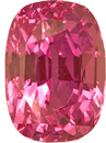 Stunning Unheated Pink Sapphire Gem Cushion Cut, Vivid Pink Orangey Color in 8.9 x 6.3 mm, 3.09 carats - TGL Certified - SOLD