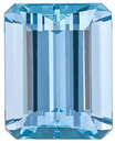Top GEM, Excellent Find, Brazilian Aquamarine Gem, Emerald Cut, 9.29 Carats