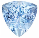 Trillion Cut Aquamarine Loose Gemstone in Rich Pure Blue Color in 8.0 mm, 1.78 carats