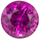 Very Pretty Vivid Pink Madagascar Pink Sapphire - Great Pop of Color, Round Cut, 0.72 carats