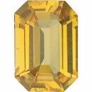 YELLOW SAPPHIRE Emerald Cut Gems  - Calibrated