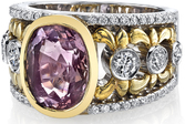 Stunning Hand Crafted Bezel Set Unheated 4.64ct Oval Light Pink Sapphire Gem in 18kt Two Tone Gold With Diamond Accents - SOLD