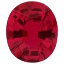Lovely No Heat Loose Ruby Gem in Oval Cut,  Red Color, 7.23 x 6.10 mm, 1.21 carats