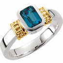 London Blue Topaz Granulated Design Ring