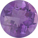 Checkerboard Round Shape Genuine Amethyst Loose  Gemstone   Grade A 1.2 carats,  7.00 mm in Size