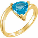 14KT Yellow Gold Swiss Blue Topaz Ring