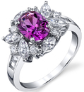 Fabulous Designer 2.27 Oval Sapphire 18kt White Gold Ring - 1.12ctw Diamond Accents