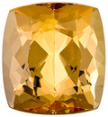 Very Clean and Well Cut, Hard to Find Shape, Unheated Brazilian Topaz Natural Gem, Cushion Cut, 2.64 carats