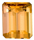 Sought After Shape, Very Pretty Peach Topaz Natural Gemstone from Brazil, Emerald  Cut, 3.05 carats