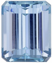 Exceptional Aquamarine Fine Gem in Emerald Cut, Pure Blue, 16.5 x 13.5 mm, 16.64 carats