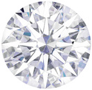 Forever One Moissanite Colorless Round Hearts & Arrows Cut