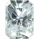 Forever One Moissanite Near Colorless Radiant Cut