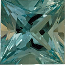 Incredible Rare Aquamarine Loose Gem in Princess Cut, No Heat, Vivid Slight Greenish Blue Color in 16.5mm, 19.76 carats