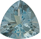 Great Price on Rich Blue Gem Aquamarine in Trillion Cut, German Cut in 12.4 x 12.3 mm, 4.59 carats