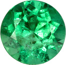 Bright & Lively Round Emerald Loose Gem, Rich Green, 5.4 mm, 0.50 carats
