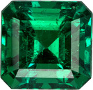 Perfect Super Gem Emerald , Columbian Crystal Clean Gem with Intense Rich Green Color, 6.3 x 6.1 mm, 1.21 carats