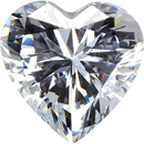 WHITE CUBIC ZIRCONIA Heart Cut Gems