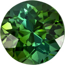 Special Round Cut Green Tourmaline Loose Gem from Brazil in a Vivid Grass Green, 6.5 mm, 1.36 carats