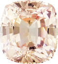 Popular GIA Certified Peach Sapphire Loose Gemstone in Antique Square Cut, Medium Light Peach, 5.9 x 5.4 mm, 1.11 carats