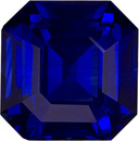 Very Rare GIA Certified Asscher Cut Blue Sapphire in Open Rich Blue Color, 10.1 x 9.9 mm, 6.58 carats