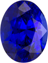 Vivid Rich Blue Sapphire Loose Gem in Oval Cut, Top Gem in 7.7 x 5.9 mm, 1.73 carats