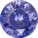 Low Price on Gem Round Cut Blue Sapphire in Vivid Cornflower Blue, 7.3 mm, 1.98 carats