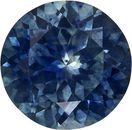 Very Bright Round Cut Blue Green Sapphire Loose Gem, Rich Blue Teal, 6.9 mm, 1.51 carats