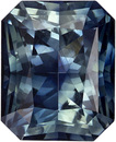 Wonderful Radiant Cut Blue Green Sapphire Loose Gem, Rich Teal Blue, 8.2 x 6.6 mm, 2.62 carats