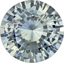 Truly Rare Round Cut Blue Green Sapphire Loose Gem, Pastel Seafoam Blue, 7.5 mm, 1.85 carats