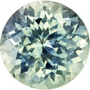 Highly Desirable Round Cut Blue Green Sapphire Loose Gem, Seafoam Blue Green, 7.5 mm, 2.17 carats