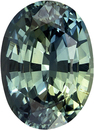 Very Attractive Unheated GIA Certified Blue Green Sapphire Loose Gem in Oval Cut, Vivid Teal Blue Green, 7.3 x 5.3 mm, 1.16 carats