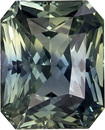Rare Unheated GIA Certified Blue Green Sapphire Loose Gem in Radiant Cut, Teal Blue Green, 8.1 x 6.6 mm, 2.42 carats