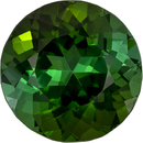 Exceptional Green Tourmaline Loose Gem in Round Cut, Rich Forest Green, 10.9 mm, 5.32 carats