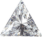 Loose Quality Faceted Colorless Cubic Zirconia Gem in Triangle Shape Sized 3.00 mm