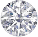 Forever One Near Colorless Moissanite Round Hearts & Arrows Cut